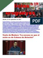Noticias Uruguayas sábado 21 de setiembre del 2013