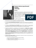 Resumen Gobierno Jorge Alessandri