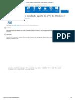 Criando um pendrive de instalação a partir do DVD do Windows 7
