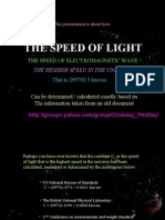 Calculate Speed of Light From Quran