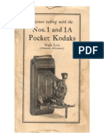 Picture Taking with the Nos. 1 and 1A Pocket Kodaks.  Single Lens (Meniscus Achromatic)  1928