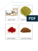 Herbs and Spices 3 Part Cards