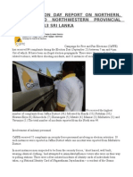 Caffe Election Day Report on Northern, Central and Northwestern Provincial Elections 2013 Sri Lanka
