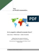 Globalization & Middle East - Arabic Societies