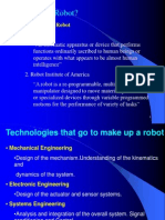 Introductiom to Robotic Systems