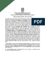 Edital Doutorado selecao 2014