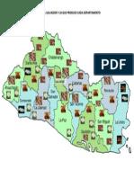 Mapa de El Salvador y Lo Que Produce Cada Departamento