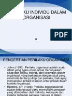 Perilaku Individu Dalam Organisasi