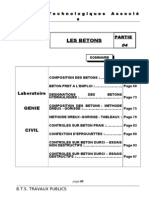Cours Labo Partie 4 - Les Betons
