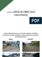 Registro Fotografico Obras Del 2012 Ejecutadas