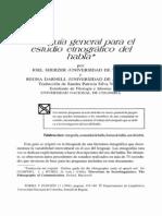 Una guía general para el estudio etnografico del habla - Sherzer & Darnell
