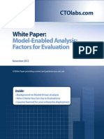 Model Enabled Analytical Framework