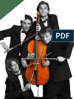 Recuerdos de la Alhambra by Tárrega for cello quartet