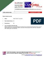 MRCGP Exam CSA CASE  Nocturnal Enuresis CSA prep Course Mock