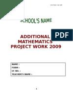 Additional+Mathematics+Project+Work+2009