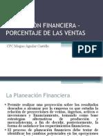 Planeacion Financiera Porcentaje de Las Ventas