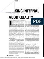 Assessing Internal Audit Quality