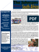 Johnson Prayer Letter July-August 2013