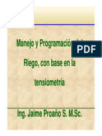 Microsoft PowerPoint - PROGRAMACIÓN DEL RIEGO EN BASE A TENSIÓMETROS