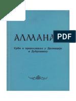 Almanah Srbi i pravoslavlje u Dalmaciji i Dubrovniku Grupa autora
