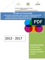 Sistema Institucional de Evaluacion 2012