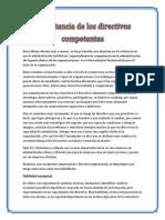 Importancia de Directivos Competentes