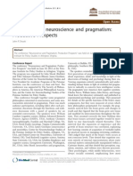Conference on Neuroscience and Pragmatism:Productive Postpects