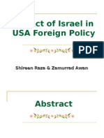 Impact of Israel in USA Foreign Policy