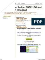 CBSE Exam India - CBSE 10th and CBSE 12th Standard
