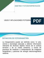 2.Usos yAplicacionesfotogrametria