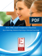 BTEC HNC in Business by e Learning Distance Learning or Blended Learning