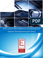 BTEC HNC in Computing and Systems Development Part Time