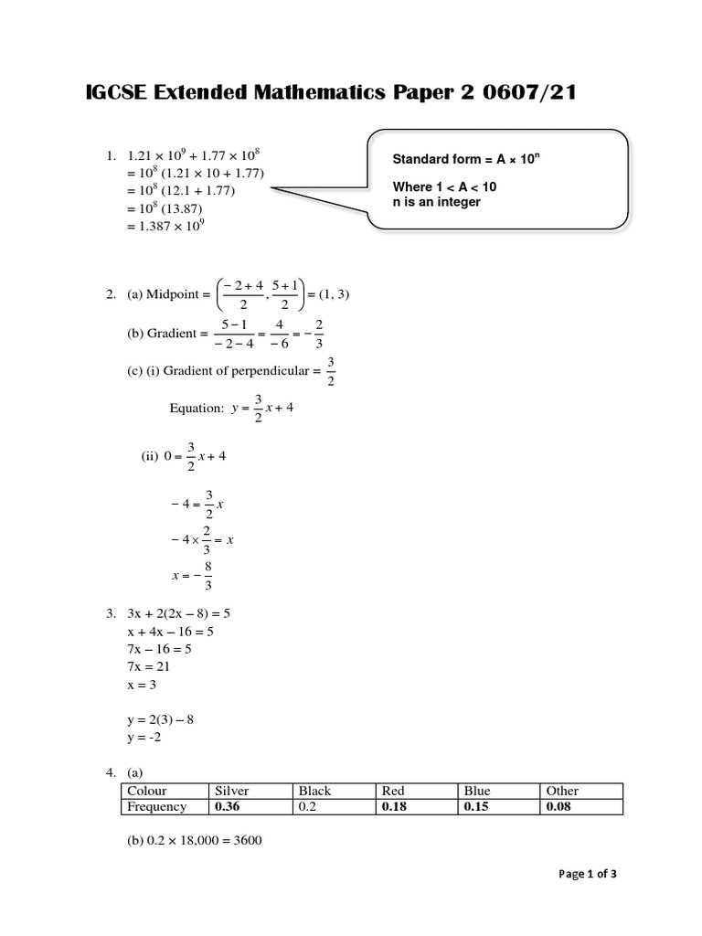 Igcse extended mathematics paper 2 060721 mayjune 2013 ccuart Image collections