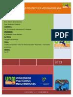 Cuadro Comparativo de Desarrollo y Crecimiento Economico