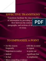 Effective Transitions
