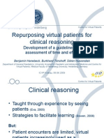 Repurposing Virtual Patients for Clinical Reasoning
