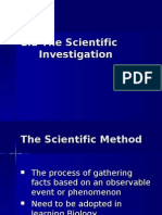 1.2 The Scientific Investigation