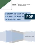 Sistema de Gestion de Calidad en Base a La Norma ISO9001