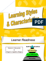 Learning Styles Characteristics