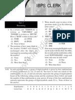 IBPS Clerk Exam Paper Helo on 11-12-2011 Test 1 Reasoning Www.bankpoclerk.com