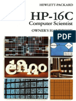 HP-16C Owner's Handbook 1982 Color