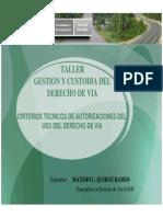 07 Criterios Tecnicos Autorizaciones Uso Derecho de Via