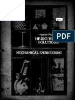 HP-19C & 29C Solutions Mechanical Engineering 1977 B&W