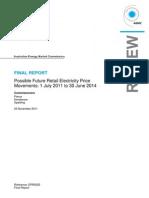 澳大利亚电价趋势分析