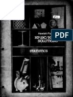 HP-19C & 29C Solutions Statistics 1977 B&W