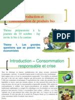 Thème- Production et consommation de produits bio