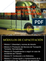 Curso Capacitacion Conductores Transporte Terrestre