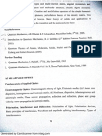 Applied Optics Syllabus