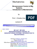 Lecture 1 Introduction to Mechatronics