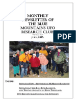 The Blue Mountains UFO Research Club Newsletter - July 2013